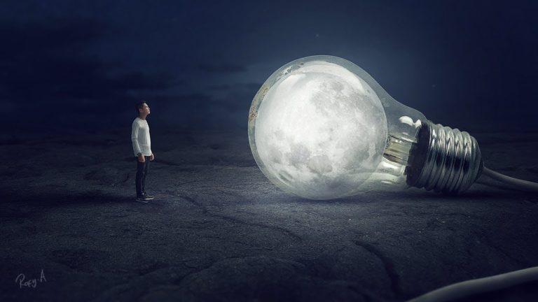 Bulb Moon – Photoshop Manipulation Tutorial Processing